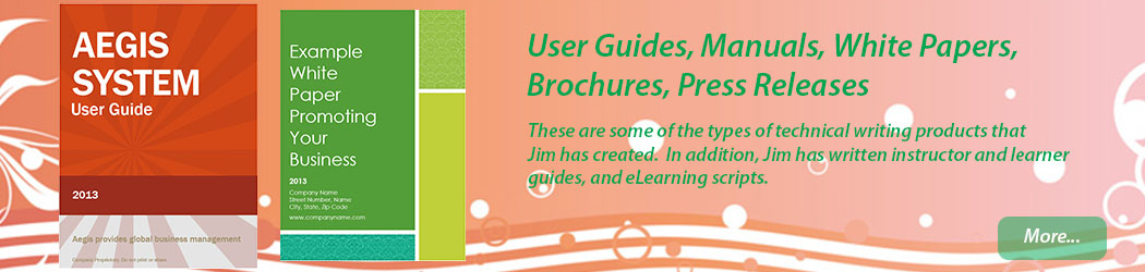 User Guides, Manuals, White Papers, Brochures, Press Releases