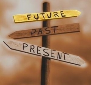 Past Present Future sign post